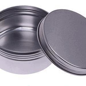 Blikken potjes rond 15 ml. schroefdeksel aluminium verpakkingen