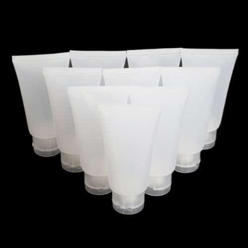 Lege tube 50ml plastic transparant hervulbare verpakking for Plastic verpakkingen