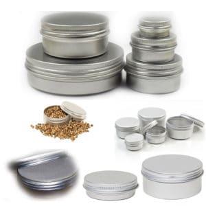 Aluminium potjes lege cosmetica crème zalf balsem verpakking blik