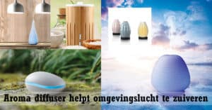 Aroma diffuser helpt omgevingslucht te zuiveren