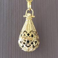Aroma druppel medaillon hart goud parfum medaillon lavasteen