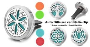 Auto Diffuser Clip - Aroma Geur Medaillon Essentiële Oliën