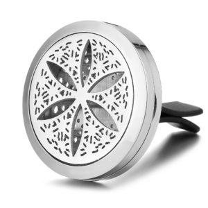 Auto Geur Medaillon Bloem, ventilatie diffuser Clip