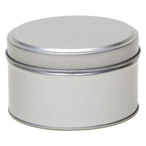 Blikken pot rond + deksel, aluminium verpakkingen