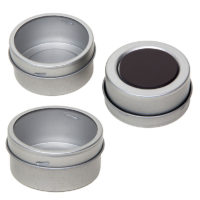 Blikken potje magnetisch + kijkvenster – thee of kruiden potjes