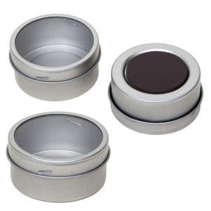 blikken potje magnetisch + kijkvenster - thee of kruiden potjes