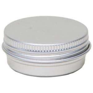 Blikken potjes rond 10 ml. schroefdeksel aluminium verpakkingen