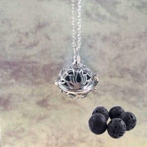 Diffuser aroma medaillon Lotusbloem parfum medaillon lavasteen
