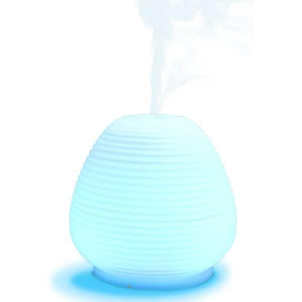 Diffuser Leisure glas - Aroma verspreider - blauw licht