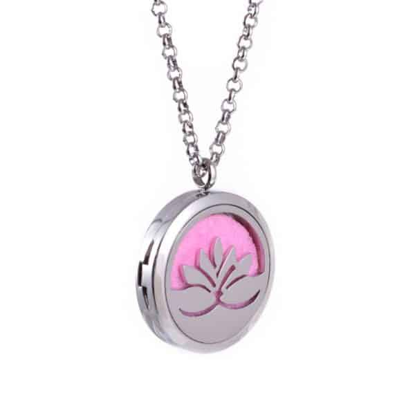 Diffuser Parfum Medaillon Hanger Lotus + pad - Aromatherapie