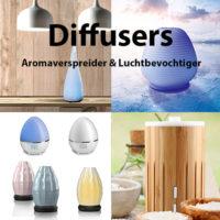 Diffusers - Aroma verspreiders, luchtbevochtigers