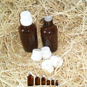 Druppelflessen - fles amber bruin glas + druppeldop, druppelaar