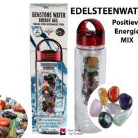 Edelsteen energie mix water drinkfles getrommelde edelstenen