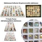 Edelstenen Collectie 56 getrommelde edelstenen giftbox + poster