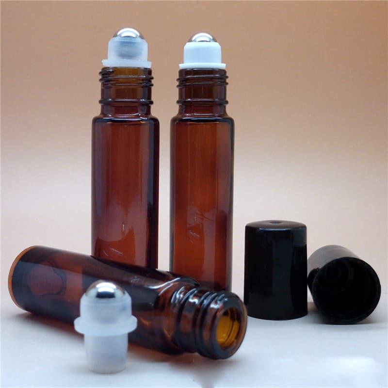 Essentiële olie roller flesjes roll-on parfumroller fles amber bruin glas 10ml