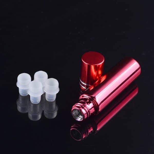 Essentiële olie parfumroller flesjes rood gekleurde roller fles glas