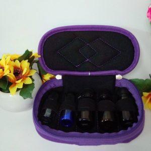 essentiële olie reistas, Reisetui parfum houder 5 flesjes