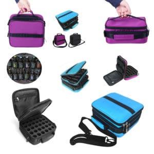 Essentiële olie tas, reistas, draagtas 42 flesjes, blauw paars of zwart