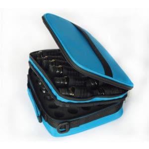 Essentiële olie tas blauw, reistas, draagtas 42 flesjes