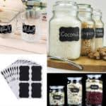 Etiketten flessen & potten 4 stuks – vel krijtbord stickers – watervaste labels
