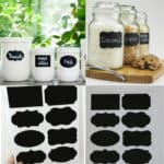 Etiketten flessen & potten 8 stuks – vel krijtbord stickers – watervaste labels