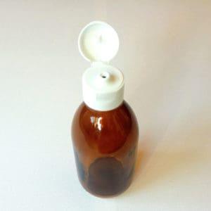 Glazen fles 250 ml klapdop - Medicijnfles amber bruin glas DIN28