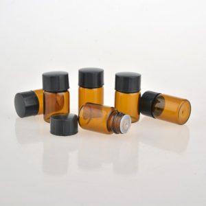 2ml druppelflesje fles amber glas druppel reguleringsdopje