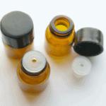Druppelflesje 1ml fles amber + glas druppel reguleringsdopje