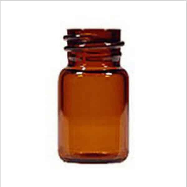 glazen flesje leeg amber glas 1 ml