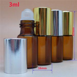 glazen flesje roller bal etherische olie amber glas