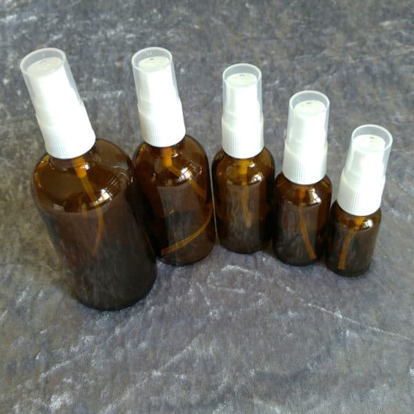 Glazen spray fles amber glas spray verstuiver vernevelaar