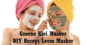 Groene Klei Masker - Leem gezichtsmasker DIY Recept
