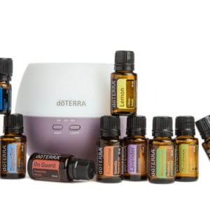 Home Essentials Kit doTERRA - 10 essentiële oliën + Petal diffusser