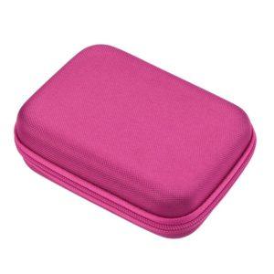 luxe reisetui parfumrollers 10ml essentiële olie tas, houder 10 flesjes roze