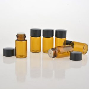 3ml monster druppelflesje amberkleurig glas essentiële olie druppeldop