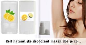 Deodorant maken - natuurlijk DIY recept - Deoroller - Deostick