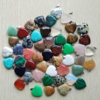 Natuurstenen ketting hanger hart – edelstenen sieraden