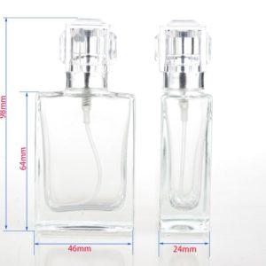 Parfumfles glas lege verstuiver sprayfles navulbaar 30ml.