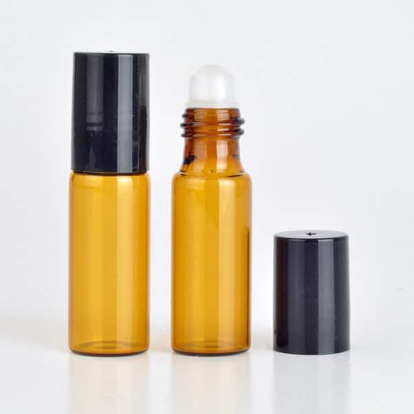 Parfumroller amber glas 5ml essentiële olie roller flesjes roll on roller