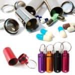 Pillenkoker sleutelhanger – medicijnen – identiteitskoker waterdicht
