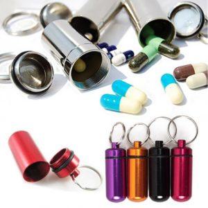 Pillenkoker sleutelhanger - medicijnen - identiteitskoker waterdicht