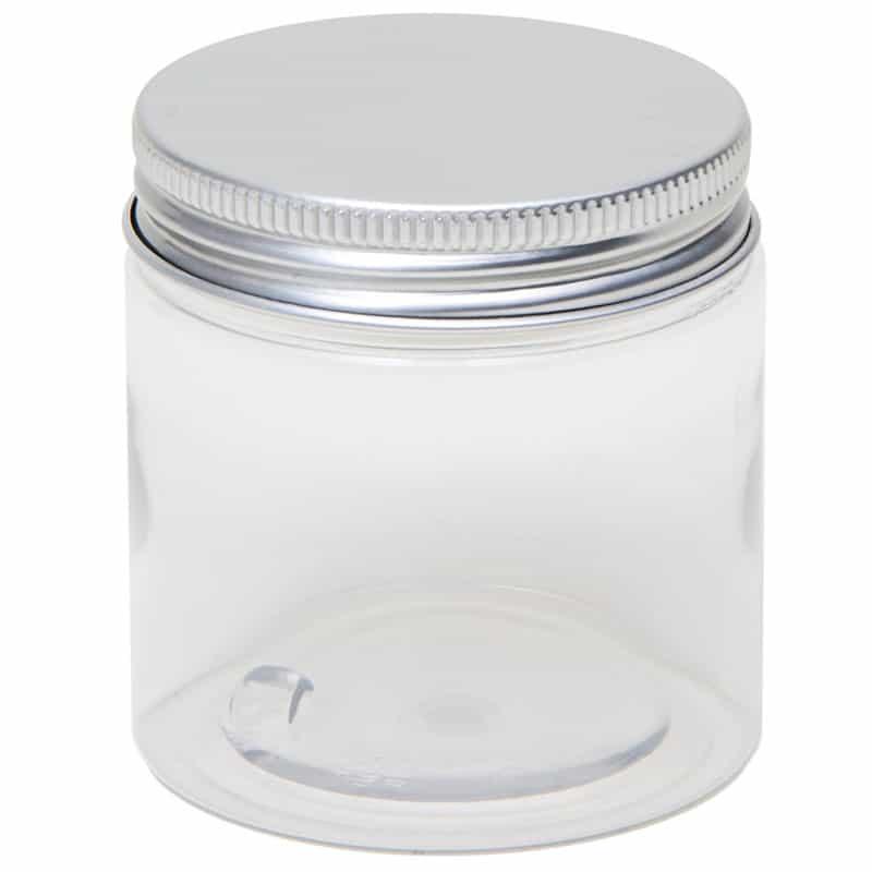 Pot Met Deksel.Potten Transparant Cosmetica Pet Pot Rond Aluminium Schroefdeksel