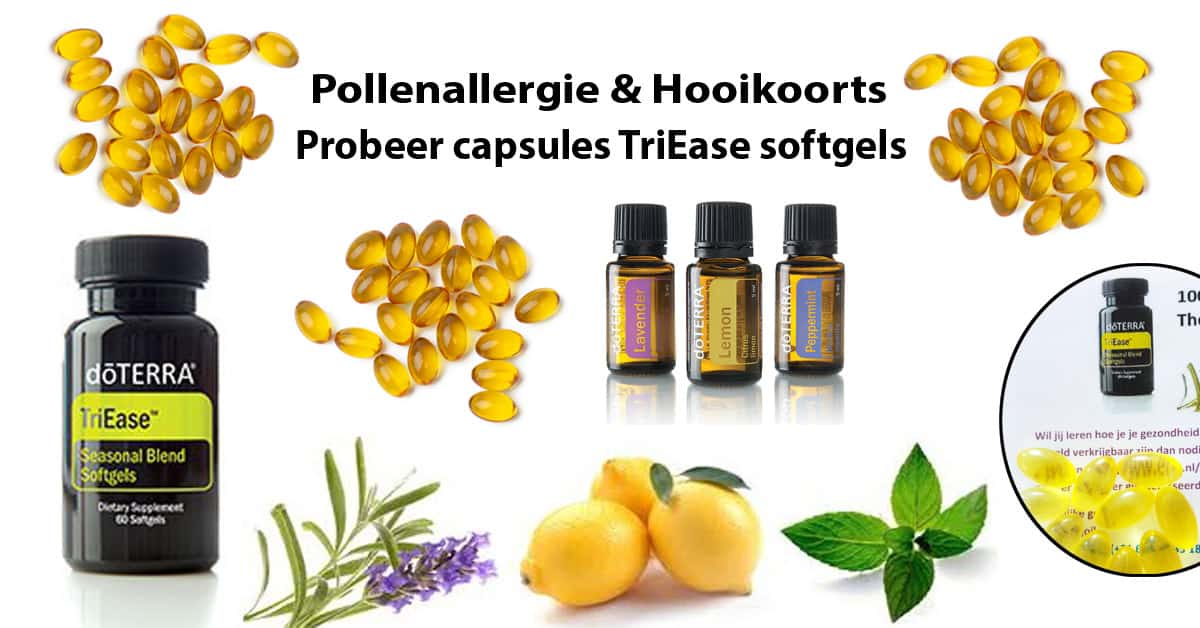 Probeer capsules TriEase softgels.