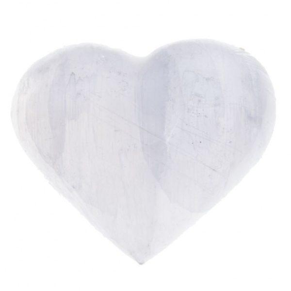 Seleniet hart kristal engelensteen - marokko - spiritueel - meditatie