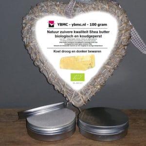 Shea butter biologisch gecertificeerd koudgeperst (100 g)