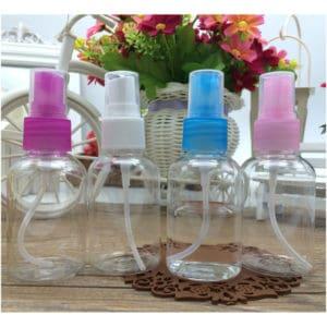 Sprayflesje 50ml verstuiver leeg hervulbaar plastic pet fles transparant